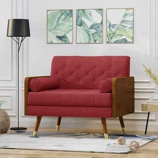 Frankie Mid Century Modern Fabric Club Chair by Christopher Knight Home