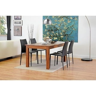 Avallon Raven Black Leather Dining Chair (Set of 2)