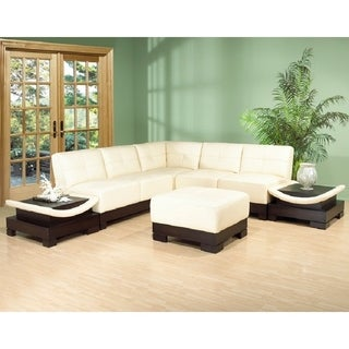 The Mirage Leather/Faux-leather 6-piece Sectional