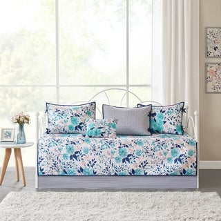 Intelligent Design Tiffany Blue Delle 6 Piece Reversible Daybed Set