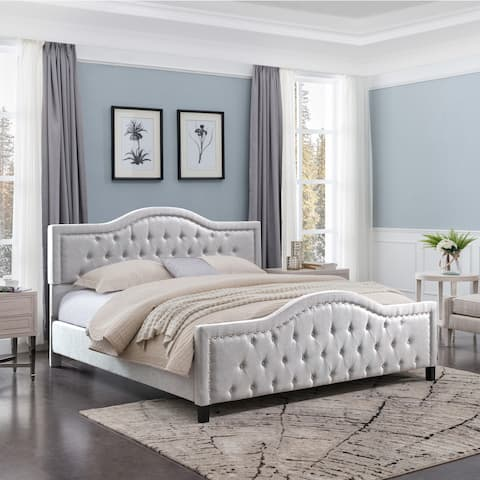 Virgil Fully-Upholstered Traditional King-Sized Bed Frame by Christopher Knight Home