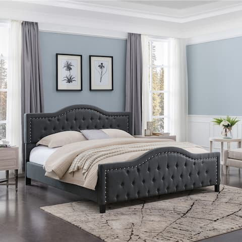 Virgil Traditional Queen-Sized Bed Frame by Christopher Knight Home