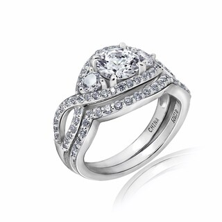 Platinum Clad Round Twisted Shank Ring Set (3 options available)