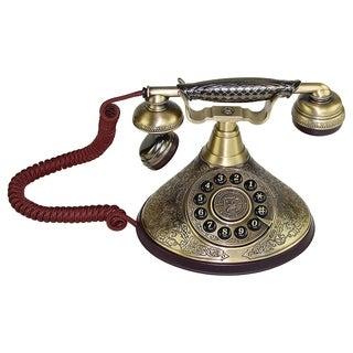 LNC Antique Style Push Button Dial Landline Corded Phone