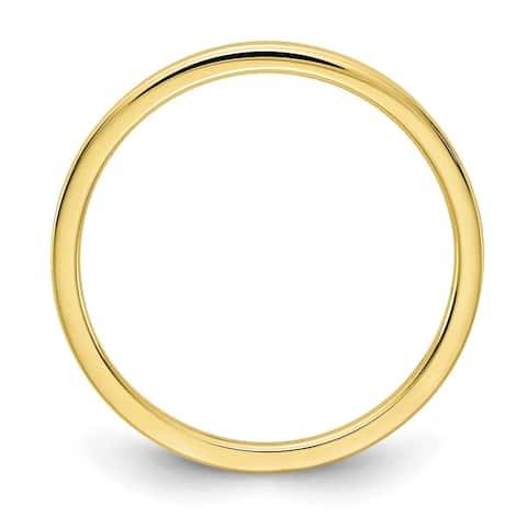 Versil 10 Karat Yellow Gold 1.2mm Flat Stackable Band
