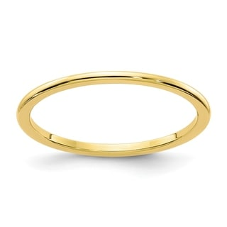 Link to 14 Karat Yellow Gold 1.2mm Half Round Stackable Band by Versil Similar Items in Rings