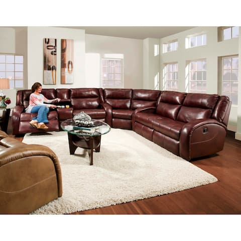 Southern Motion's Maverick Reclining Sectional Sofa