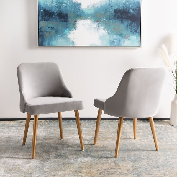 Shop Safavieh 18 3 Quot Lulu Upholstered Dining Chair Grey