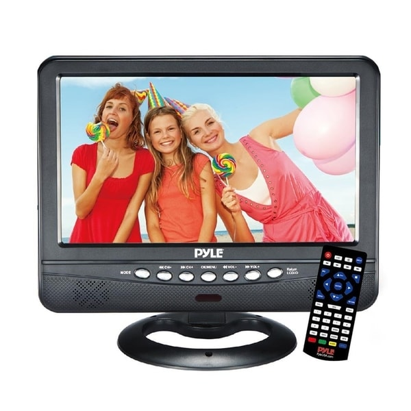 Pyle 9 Inch Portable Widescreen TV Battery Operated Wireless Mini Car Digital Video Tuner TFT LCD Monitor