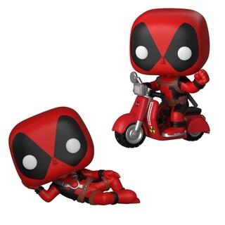 Funko POP! Marvel Deadpool 2 Parody Collectors Set - Deadpool Reclining & POP! Rides Deadpool On Scooter