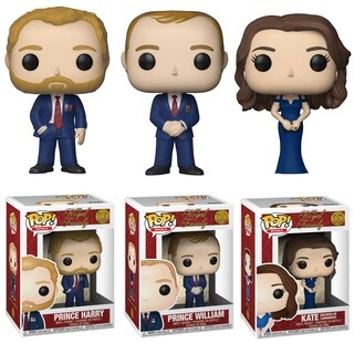 Funko POP! Royals: Royal Family Series 1 Collectors Set - Prince Harry, Prince William & Duchess of Cambridge Kate