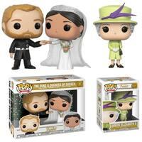 Funko POP! Royals: Royal Wedding Collectors Set - Duke and Duchess Sussex & Queen Elizabeth II
