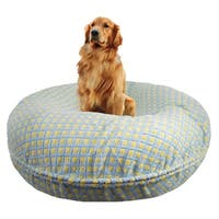 Bessie and Barnie Signature Robin Egg Luxury Extra Plush Faux Fur Bagel Pet / Dog Bed