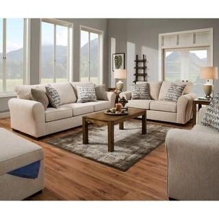 Simmons Upholstery Boston Linen Sofa and Loveseat Set