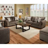 Simmons Upholstery Harlow Ash Sofa and Loveseat Set