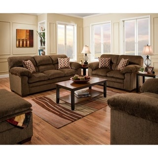 Link to Simmons Upholstery Harlow Chestnut Sofa and Loveseat Set Similar Items in Living Room Furniture