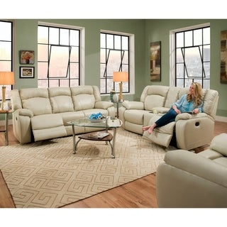 Simmons Upholstery Yahtzee Pearl Power Double Motion Sofa and Loveseat Set