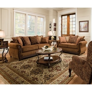 Simmons Upholstery Outback Chocolate Sofa and Loveseat Set