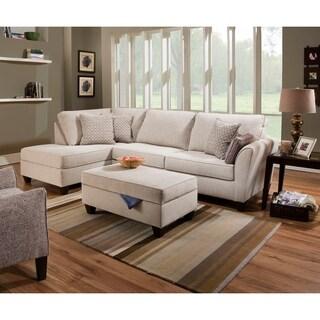 Simmons Upholstery Bennington Stone Sectional Set