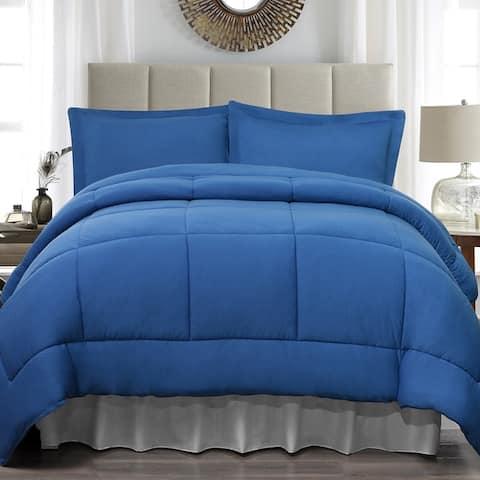 Soft Touch Full / Queen Jersey 4 Piece Comforter Set