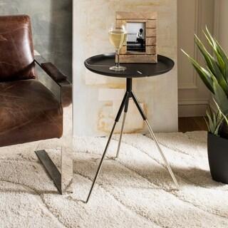 Safavieh Lark Tri Leg Contemporary Glam Side Table - Black