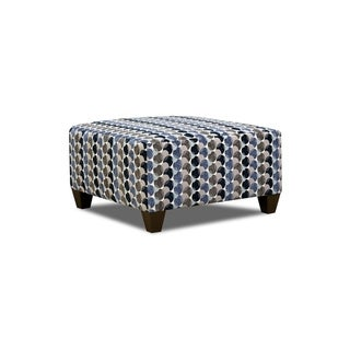 Simmons Upholstery Bubbles Ink Cocktail Ottoman