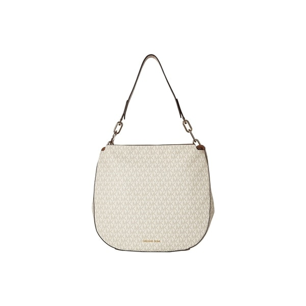 07c889f6c430 Shop Michael Kors Fulton Signature Large Vanilla Hobo - On Sale ...