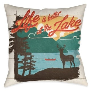 Laural Home Country Lake II Outdoor Throw Pillow