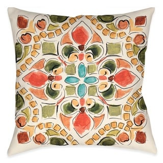 Laural Home Tuscan Mosaic II Outdoor Throw Pillow