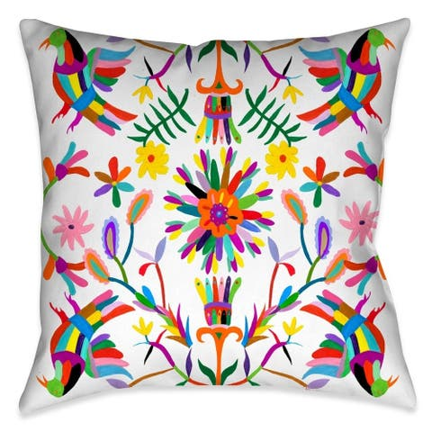 Laural Home Whimsical Folk Art I Outdoor Throw Pillow