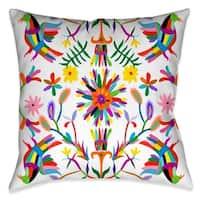 Laural Home Whimsical Folk Art I Outdoor Throw Pillow