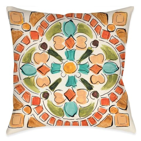 Laural Home Tuscan Mosaic I Outdoor Throw Pillow