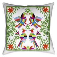 Laural Home Whimsical Folk Art II Outdoor Throw Pillow