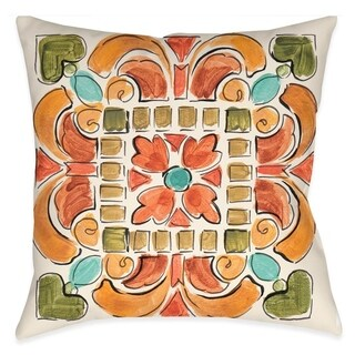 Laural Home Tuscan Mosaic III Outdoor Throw Pillow