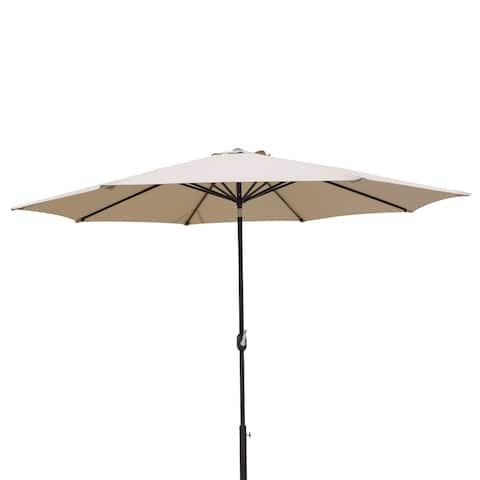 Calypso 11' Octagonal Olefin Market Umbrella with Auto-Tilt