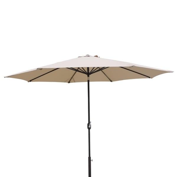 Calypso 11-ft Octagonal Market Umbrella w/ Auto-Tilt in Stone Olefin
