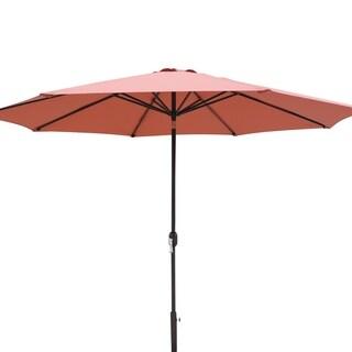 Island Umbrella Calypso Terra Cotta Olefin 11-foot Octagonal Market Umbrella with Auto Tilt