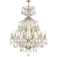 Siret Brienne 18-light Washed Gold Finish Chandelier with Fire-molded Crystals