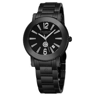 Charriol Men's P42BM.P42BM.011 'Parisi' Black Dial Black Stainless Steel Swiss Quartz Watch