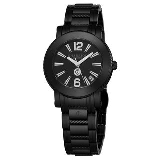 Charriol Women's P33BM.P33BM.010 'Parisi' Black Dial Black Stainless Steel Swiss Quartz Watch