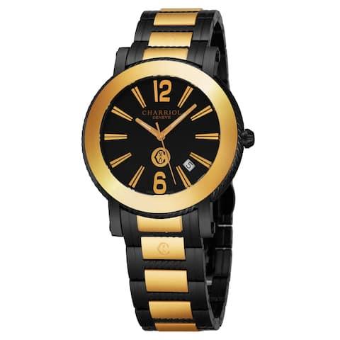 Charriol Men's P42BYMP.42BYM.010 'Parisi' Black Dial Two Tone Black Stainless Steel Swiss Quartz Watch