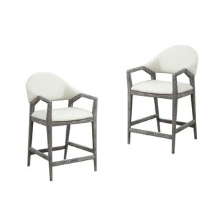 "Emerald Home Carrera Upholstered Back Upholstered Seat 24"" Bar Stool, Slate Gray"