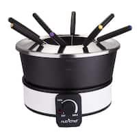 NutriChef PKFNMK26 Fondue Maker Electric Melting Pot Cooker Non Stick and Heat Resistant