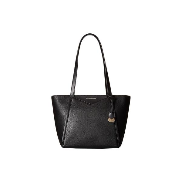 b89b264dc228 Shop MICHAEL Michael Kors Whitney Small Top Zip Black Tote - On Sale ...