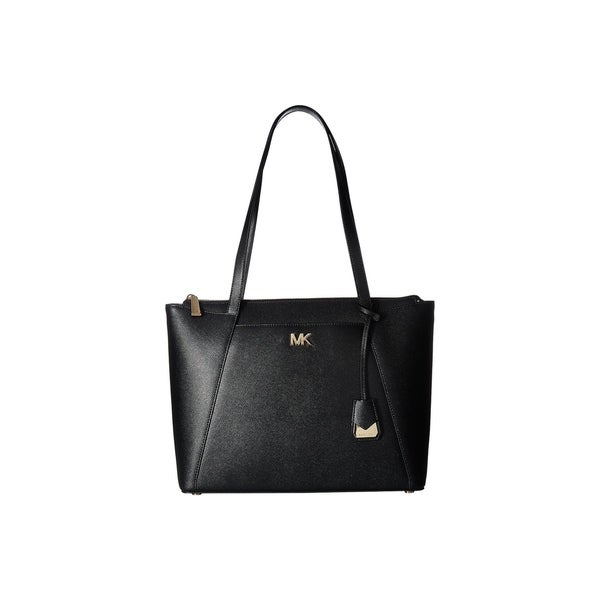 e657a43380c8 Shop MICHAEL Michael Kors Maddie Medium Top Zip Black Tote - On Sale ...