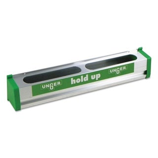 Unger Hold Up Aluminum Tool Rack, 18 in., Aluminum/Green