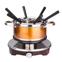 NutriChef PKFNMK25 Electric Melting Pot Fondue Maker Dipping Forks, Stainless Steel