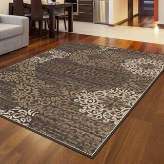 Admire Home Living Plaza Mia Brown Area Rug - 3'3 x 4'11
