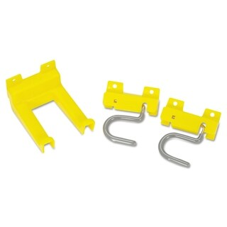 Rubbermaid Commercial Closet Organizer and Tool Holder Kit, Yellow