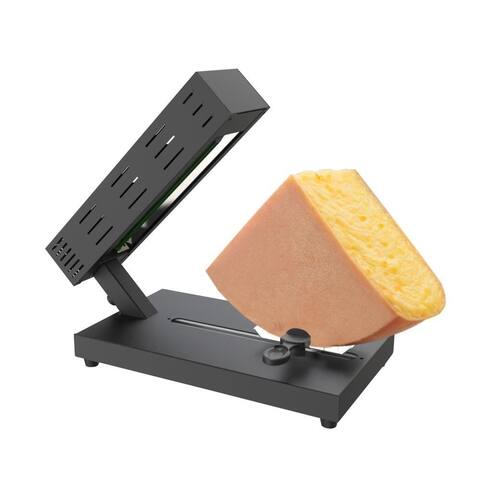NutriChef PKCHMT26 Electric Raclette Cheese Melter Machine Table Top Stainless Steel Cheese Grill Melting Warmer Heater